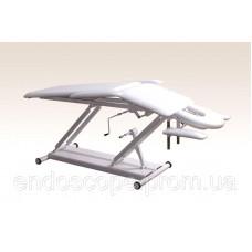 Кушетка масажна з 2-ма регулюваннями висоти, з регульованими підголовником і підлокітниками КМ-2РМ)