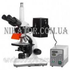 Лабораторний бінокулярний мікроскоп MC-100 Daffolid з флуоресцентним блоком