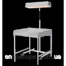 Опромінювач для верхнього обігріву немовляти з пеленальним столиком ЛВО-02 (Променисте тепло)