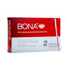 """Тест-смужки для визначення вагітності """"BONA"""" 2 шт"""